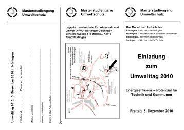 Einladung zum Umwelttag 2010 - Faktor N