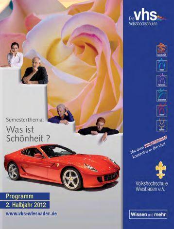 Programmheft, PDF, 13 MB - Volkshochschule Wiesbaden
