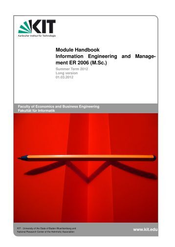 module handbook The module handbook describes all modules in the electrical engineering & it master program and contains further important information.