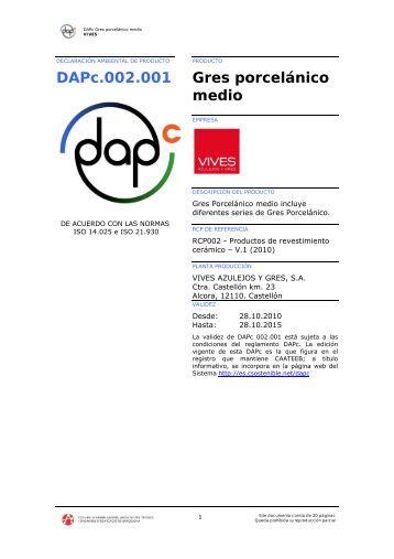 DAPc.002.001 Gres porcelánico medio - Vives Azulejos y Gres