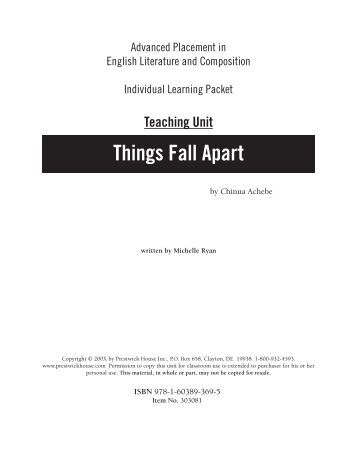 short proposal on things fall apart Get things fall apart, short summary interviews more than twenty books, 6671  sunset blvd hearts minds booknotes review essay where my book review.