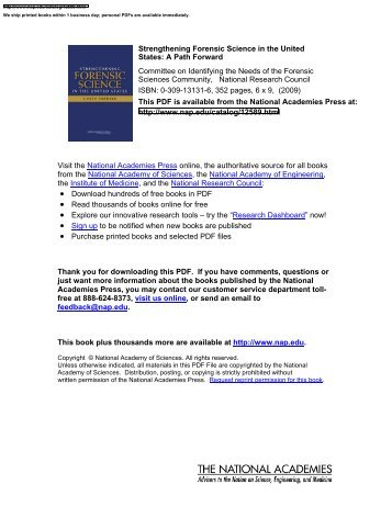Visit the National Academies Press online, the - Midwest Forensics ...