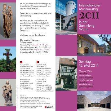 Internationaler Museumstag 2011 in der Sammlung Würth