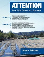 Sand Filter Owners and Operators - Orenco Systems, Inc.