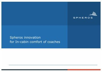 Spheros innovation for In-cabin comfort of coaches