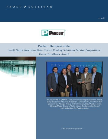 Brochures: PANDUIT Recieves 2008 Data Center Cooling Solutions