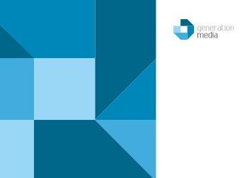 Unsere aktuelle Broschüre zum Download - generation media