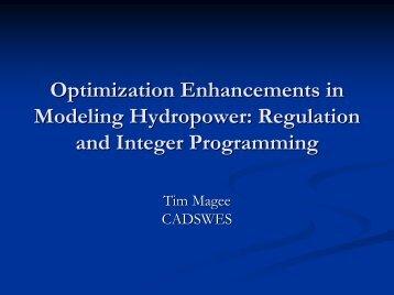 Adding Regulation to RiverWare - CADSWES