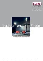 BELEUCHTUNGSANHÄNGER - Elmag