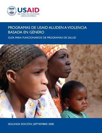 programas de usaid aluden a violencia basada en género - IGWG