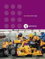 Genero® A software infrastructure for enterprise-scalable ... - Logifer