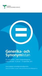 Generika- och Synonymlistan - Västra Götalandsregionen