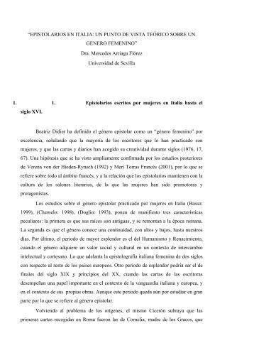 """EPISTOLARIOS EN ITALIA: UN PUNTO DE VISTA TEÓRICO ..."