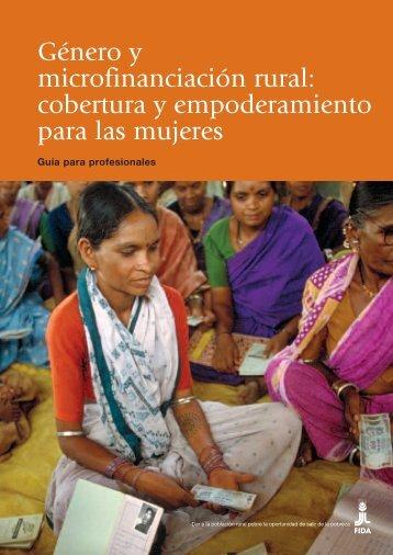Género y microfinanciación rural: cobertura y ... - IFAD