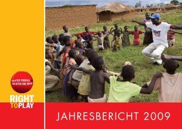 Jahresbericht 2009 Schweiz - Right to Play