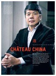 CHâTEAU CHINA - Schweizerische Weinzeitung