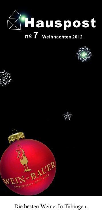 Hauspost Dezember 2012 - Wein-Bauer