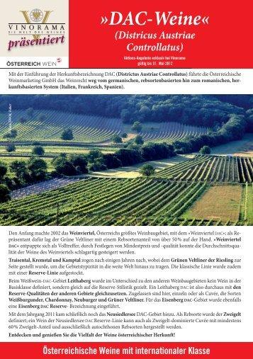 DAC-Weine PDF - Vinorama