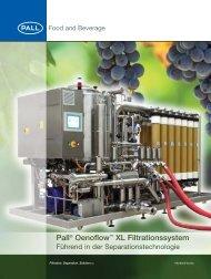 Pall Oenoflow XL Filtrationssystem - Membrane-guide