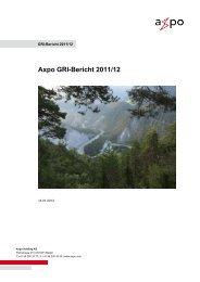 Axpo GRI-Bericht 2011/12