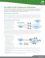 The ABCs of SIP Trunking for Enterprises - Sonus Networks, Inc.