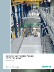 Siemens Gas Turbine Package SGT5-PAC 4000F - Siemens Energy