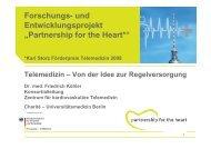 "Forschungs- und Entwicklungsprojekt ""Partnership for the Heart*"""