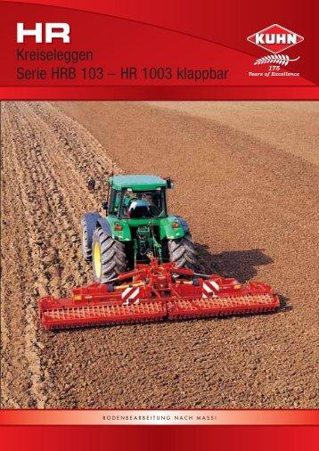 Kreiseleggen Serie HRB 103 – HR 1003 klappbar
