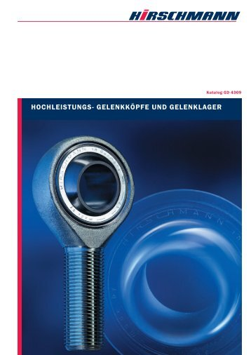 HOCHlEISTUngS- gElEnKKöPFE UnD gElEnKlAgER - Hirschmann ...