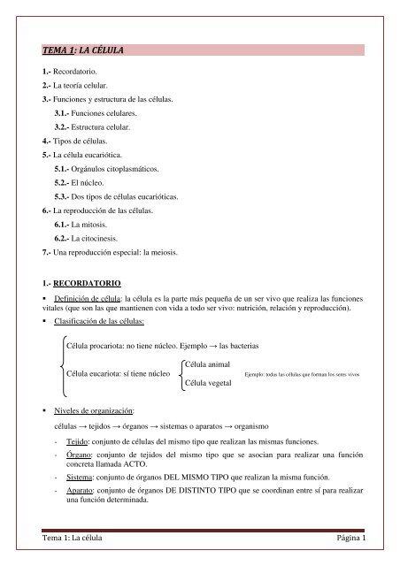 Tema 1 La Cc3a9lula1