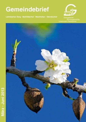 Gemeindebrief Ausgabe 2013-1 - Kirchenkreis Leverkusen
