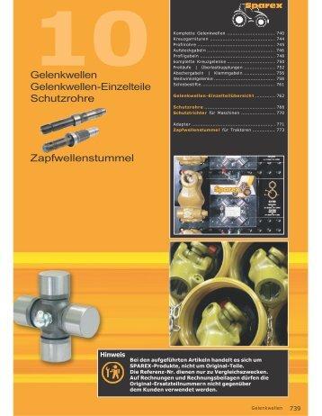 Gelenkwellen Gelenkwellen-Einzelteile Schutzrohre ...