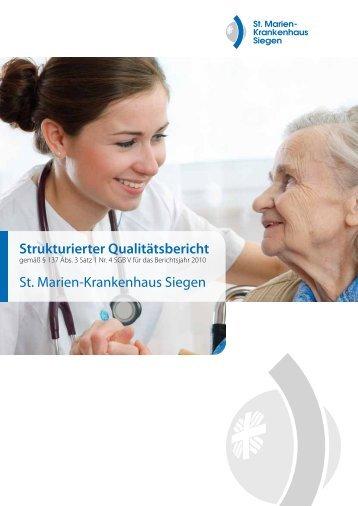 Strukturierter Qualitätsbericht St. Marien-Krankenhaus Siegen