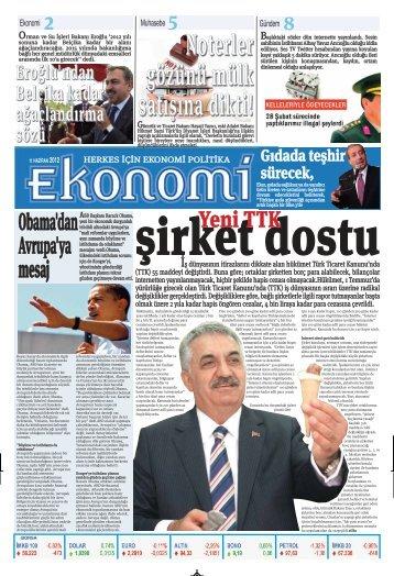 11 haziran 2012 - Ekonomi Gazetesi