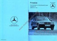 Gesamtpreisliste Mercedes-Benz, 12/1982 - mobilverzeichnis.de