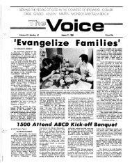 'Evan geli Families' - E-Research