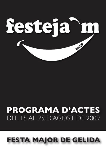 PROGRAMA D ACTES - Ajuntament de Gelida
