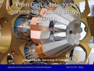 From Ge(Li) detectors to gamma-ray tracking arrays – AGATA