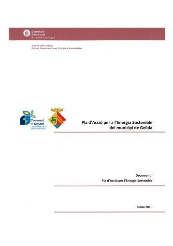 El Pla d'Acció per a l'Energia Sostenible del municipi de Gelida