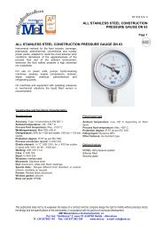 all stainless steel construction pressure gauge dn 63 all stainless ...