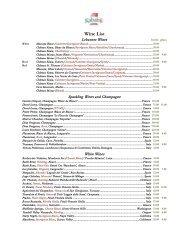 Wine List - Kababji