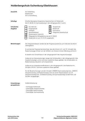 Eschenburg-Eibelshausen Holderbergschule - Lahn-Dill-Kreis