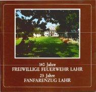 Festschrift vom 140-jährigen Jubiläum der ... - Feuerwehr Lahr
