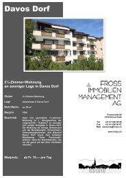 2½-Zimmer-Wohnung an sonniger Lage in Davos Dorf
