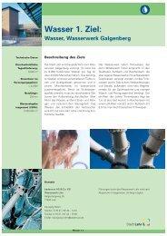 1. Ziel : Wasser, Wasserwerk Galgenberg (Stand: 5/2009 - Stadt Lahr