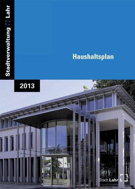 Haushaltsplan Stadt Lahr 2013 (application/pdf)