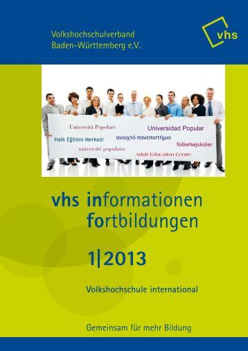 vhs info 1/2013 - Volkshochschulverband Baden-Württemberg e.V.