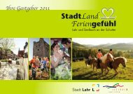 Tourismusbroschüre Lahr-Seelbach 2011 - RegioTrends