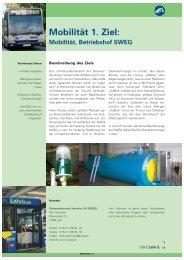 1. Ziel : Mobilität, Betriebshof SWEG (Stand: 5/2009 - Stadt Lahr