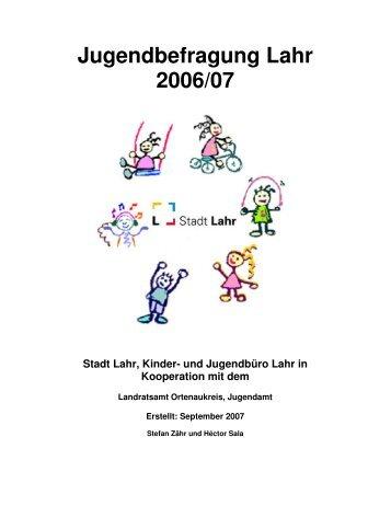 Ergebnisse der Jugendbefragung (application/pdf) - Stadt Lahr